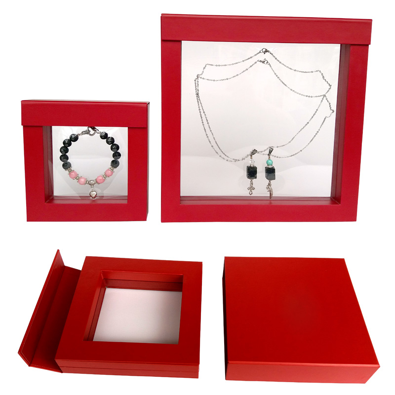 Innovative 3D Suspension Wooden MDF Frame Jewelry Gift Box  SJB-026001